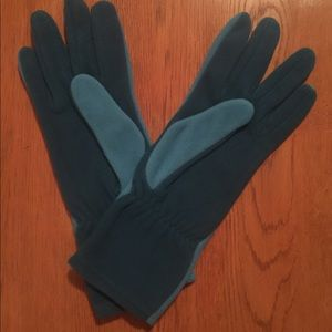 Land's End Thermacheck Fleece Gloves - Bright Teal
